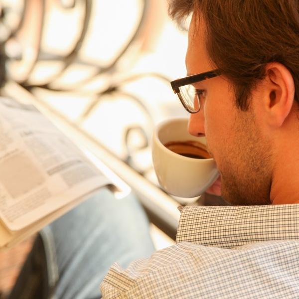 Pause & Zeitung lesen