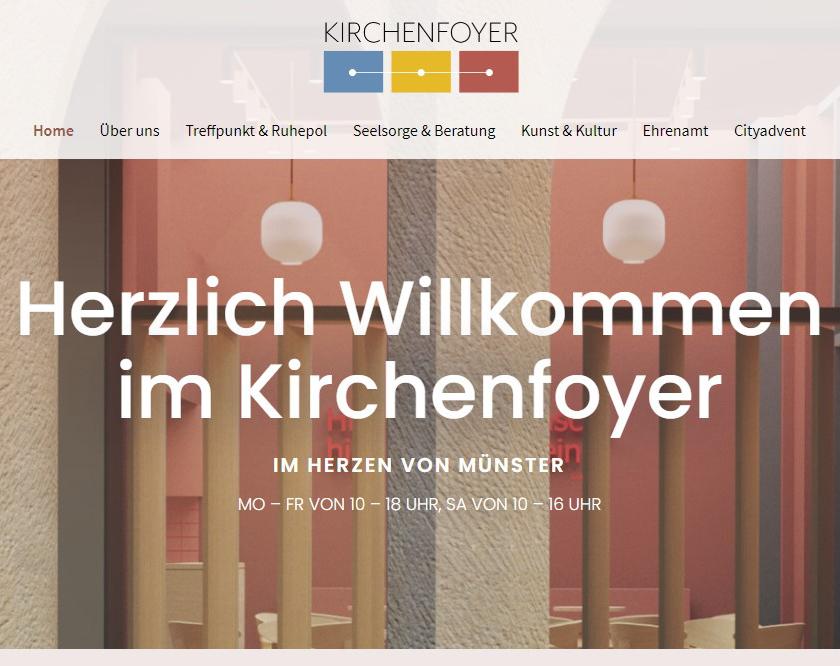 Willkommen auf der neuen Homepage des Kirchenfoyers